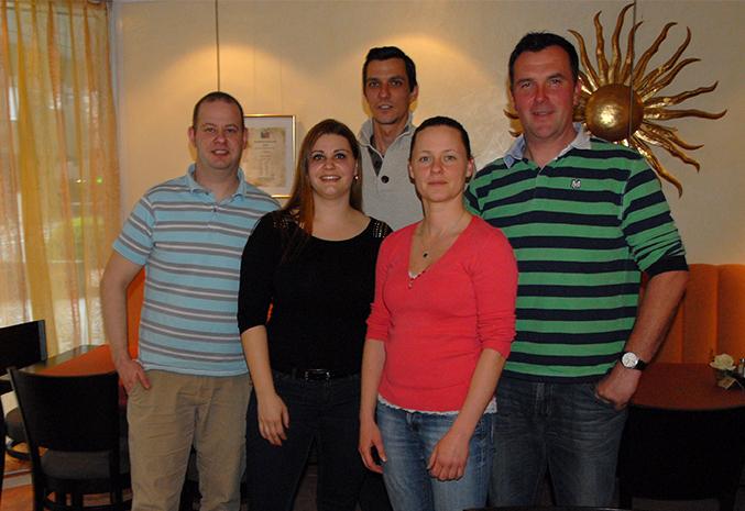Vorstand des OV Vaduz, v.l.: Martin Amann, Monika Amann, Patrick Walser, Susanne Hustert, Patrick Marxer